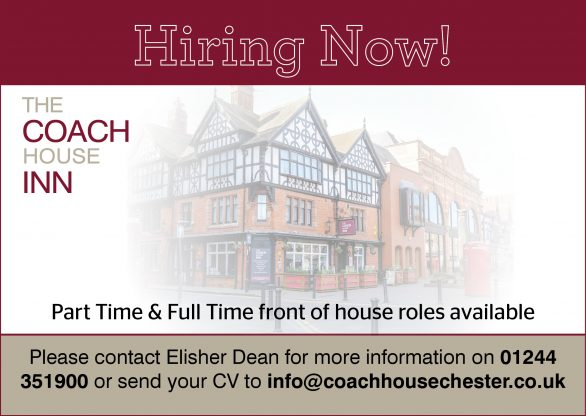 We are currently hiring! Front of House