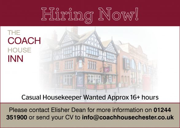 We are currently hiring for aCasual Housekeeper