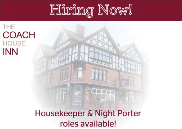 Currently hiring Housekeeping & Night Porters!
