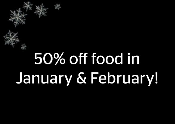 50% off food in the new year!
