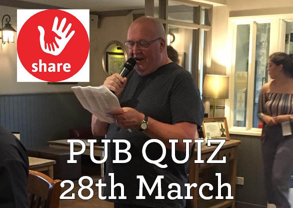 Upcoming charity pub quiz!