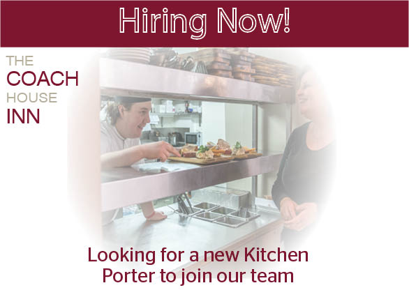 Now Hiring - Kitchen Porter Needed